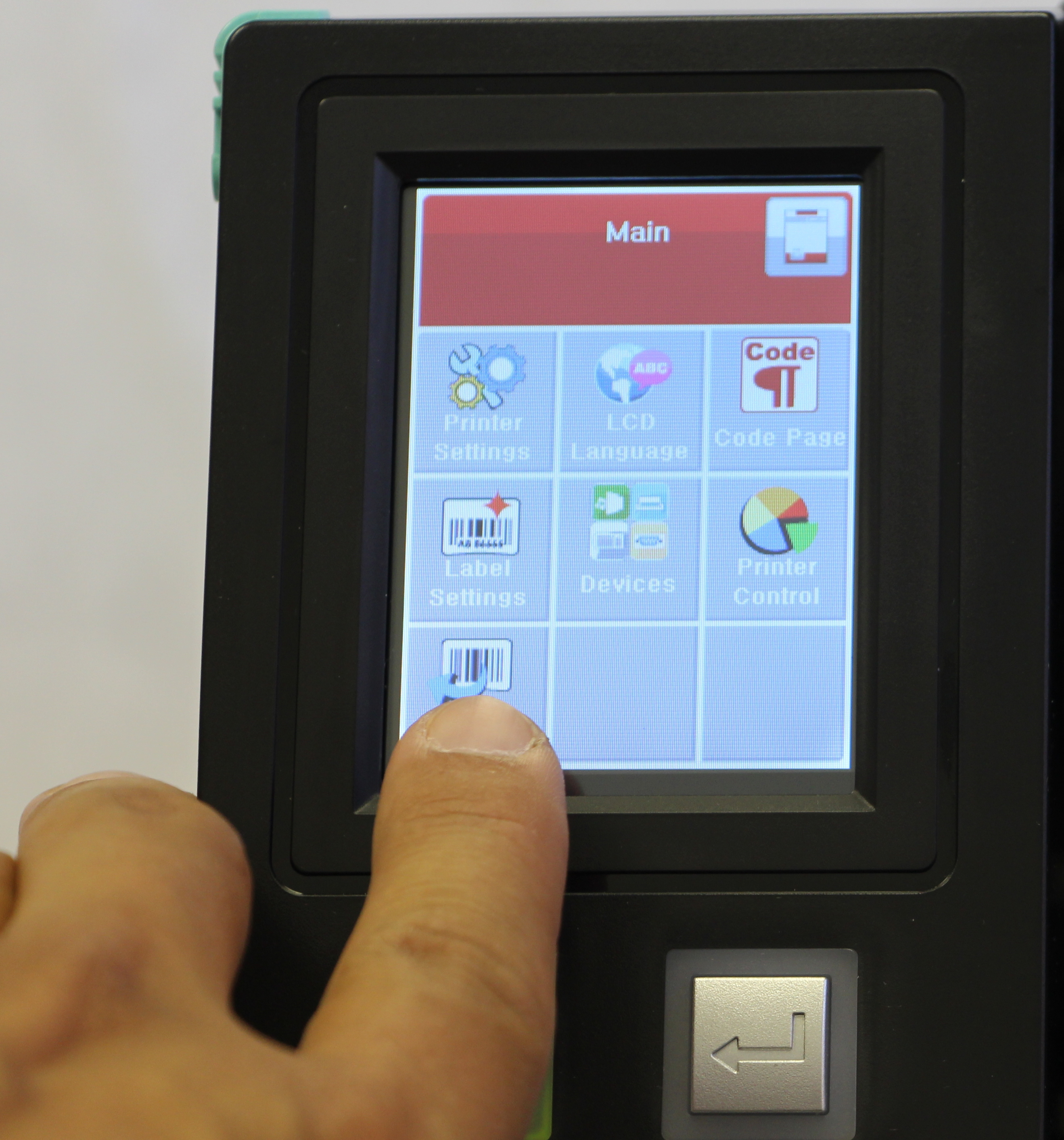 Large color touch screen LCD for EASY configuration